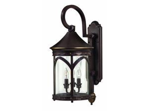 "Hinkley Lighting H2314 24.5"" Height 3 Light Lantern Outdoor Wall Sconce from the, Copper Bronze"