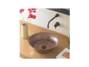 "Native Trails CPS271 Native Trails CPS271 Maestro Bajo 16-1/4"" 16-Gauge Copper Vessel Bathroom Sink, Antique Copper"