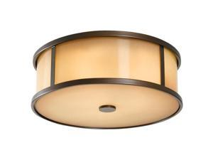 Feiss Dakota 3-Light Ceiling Fixture in Heritage Bronze - OL7613HTBZ