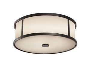 Feiss Dakota 3-Light Ceiling Fixture in Espresso - OL7613ES