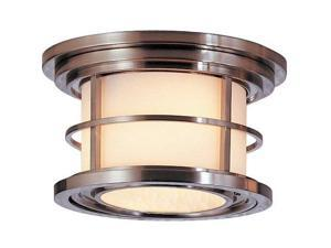 Feiss Lighthouse 2-Light Ceiling Fixture in Brushed Steel - OL2213BS