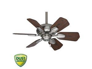59524 31 in. Traditional Wailea Brushed Nickel Dark Walnut Outdoor Ceiling Fan