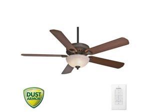 55006 Ainsworth Gallery 60 in. Traditional Onyx Bengal Distressed Walnut Indoor Ceiling Fan