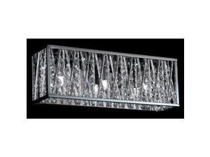 Z-Lite 872CH-3V Terra 3 Light ADA Compliant Bathroom Vanity Light with Silver Sh