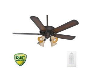 55060 54 in. Panama Gallery Maiden Bronze Ceiling Fan with Light and Remote