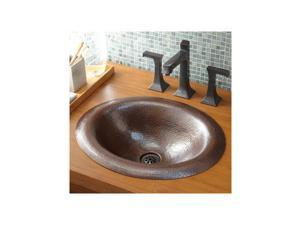 "Native Trails CPS386 Native Trails CPS386 Maestro 18"" 16-Gauge Copper Drop In Bathroom Sink, Tempered Copper"