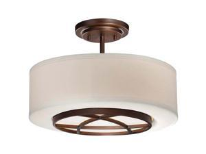 Minka Lavery 4951-267B 3 Light Semi-Flush Ceiling Fixture from the City Club Col