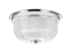 "Progress Lighting P3740 Archie 12-5/16"" Two Light Flush Mount Ceiling Fixture, Chrome"