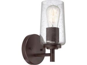 "Quoizel EDS8601 Edison 1 Light 5"" Wide Reversible Bathroom Sconce with Clear See, Western Bronze"