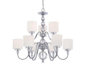 Quoizel 9 Light Downtown Chandelier in Polished Chrome - DW5009C