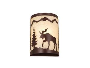 """Vaxcel Yellowstone 8"""" Wall Sconce Burnished Bronze - WS55608BBZ"""