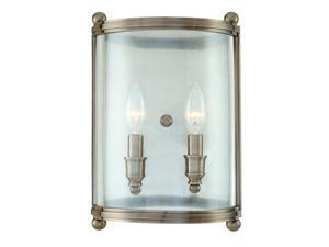 Hudson Valley Mansfield 2 Light Wall Sconce, Antique Nickel - 1302-AN