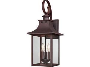 Quoizel Chancellor Outdoor Wall Lantern, Copper Bronze - CCR8410CU