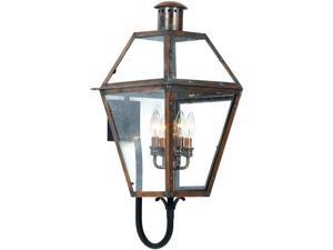 Quoizel 4 Light Rue De Royal Outdoor Wall Lanterns in Aged Copper - RO8414AC