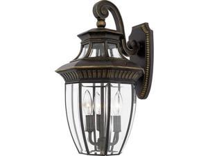 Quoizel 3 Light Georgetown Outdoor Wall Lanterns in Imperial Bronze - GT8981IB