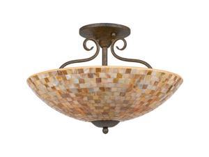Quoizel 4 Light Monterey Mosaic Semi-Flush Mount in Malaga - MY1718ML