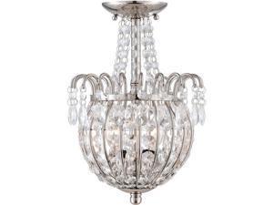 Quoizel 2 Light Jolene Semi-Flush Mount in Imperial Silver - JLE1709IS