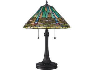 Quoizel 2 Light King Tiffany Table Lamp in Vintage Bronze - TF1508TVB