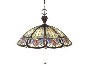 Quoizel 3 Light Tiffany Pendant in Vintage Bronze - TF1618VB