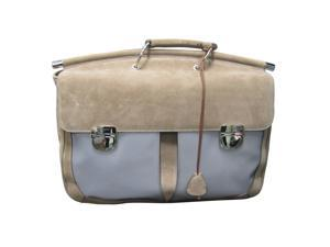 Locman LC0039-064 Taupe Suede Double Gusset Briefcase