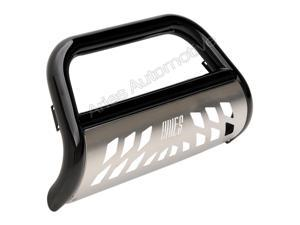 Aries Offroad B35-3013 Aries Bull Bar&#59; 3 in.&#59; w/Stainless Skid Plate&#59; Black&#59;