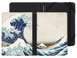 """Kindle Paperwhite Case with """"The great wave"""" Design by Ando Hiroshige"""