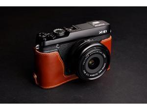 TP[EZ] Camera Half Case for Fujifilm X-E1 Fuji XE1 Genuine Cow Hide