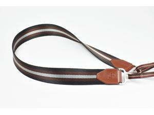 [TP Original] Camera Strap for DSLR Evil Film Genuine cowhide Leather + Thick Nylon (Dark Brown)