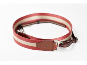 [TP Original] Camera Strap for DSLR Evil Film Genuine cowhide Leather + Thick Nylon (Red)