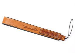 Woven Camera Wrist Strap for universal Digital, Evil Camera Italian Premium Leather (Light Brown)
