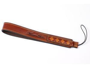 Woven Camera Wrist Strap for universal Digital, Evil Camera Italian Premium Leather (Red Brown)