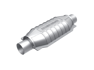 MagnaFlow 49 State Converter 51005 Universal-Fit Catalytic Converter&#59;  Grade&#59; Oval&#59; 2.25 in. Inlet/Outlet&#59; Center/Center&#59; ...