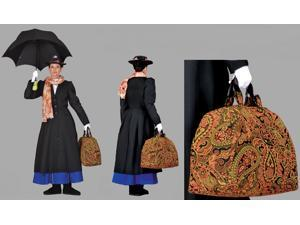 Deluxe Mary Poppins/Steampunk Carpet Bag- Theatrical Quality