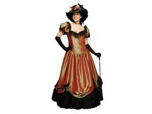 """Deluxe Gone With The Wind """"Belle Watling"""" Saloon Madame Southern Belle Costume- Theatrical Quality"""