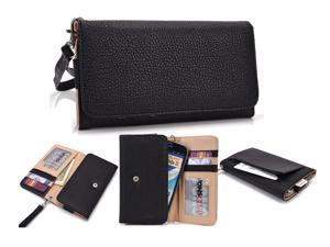 PU Leather Universal Travel Clutch Purse Smartphone Holster Case