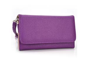 Kroo Purple Wristlet Wallet With Pouch for Smartphone up to 4 Inch