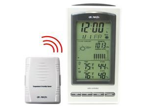Dr. Tech Air Pressure, Humidity, Temperature, Weather Forecast, Moon Phase Wireless Weather Station WF-1070T