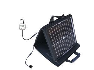 SunVolt MAX Solar Charger compatible with the Golf Buddy Voice GPS Rangefinder and one other device&#59; charge from sun at wall out