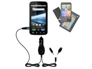 mini Double Car Charger with tips including compatible with the Motorola ATRIX HD