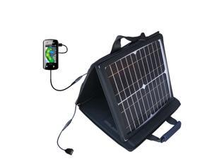 SunVolt MAX Solar Charger compatible with the Sonocaddie v500 Golf GPS and one other device&#59; charge from sun at wall outlet-like