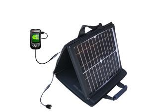 SunVolt MAX Solar Charger compatible with the Sonocaddie Auto Play Golf GPS and one other device&#59; charge from sun at wall outlet