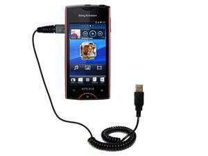 Coiled USB Cable compatible with the Sony Ericsson Xperia ray
