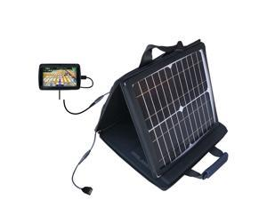 SunVolt MAX Solar Charger compatible with the Garmin Nuvi 855 and one other device&#59; charge from sun at wall outlet-like speed