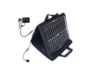 SunVolt MAX Solar Charger compatible with the Sony Bloggie Camera CM5 and one other device&#59; charge from sun at wall outlet-like