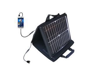 SunVolt MAX Solar Charger compatible with the Sony Ericsson Xperia neo V and one other device&#59; charge from sun at wall outlet-li