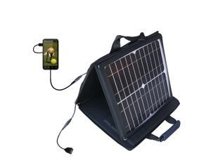 SunVolt MAX Solar Charger compatible with the HTC HTC EVO 3D and one other device&#59; charge from sun at wall outlet-like speed