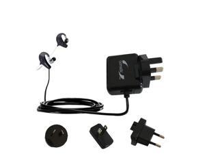 International Wall Charger compatible with the Denon AH-W150 Exercise Freak
