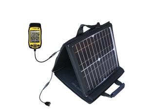 SunVolt MAX Solar Charger compatible with the Trimble Juno 3D 3B 3E and one other device&#59; charge from sun at wall outlet-like sp