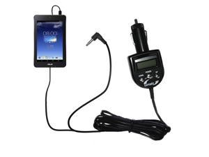 FM Transmitter & Car Charger compatible with the Asus MeMO Pad HD7