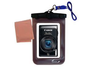 Waterproof Camera Case compatible with the Canon Powershot ELPH 100 110 115 130 320 330 500 510 520 530